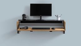 wall desk adjustable height